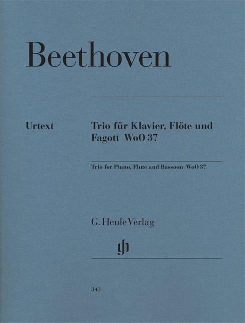 Trio avec flûte en Sol majeur WoO 37 pour piano, flûte et basson - laflutedepan.com