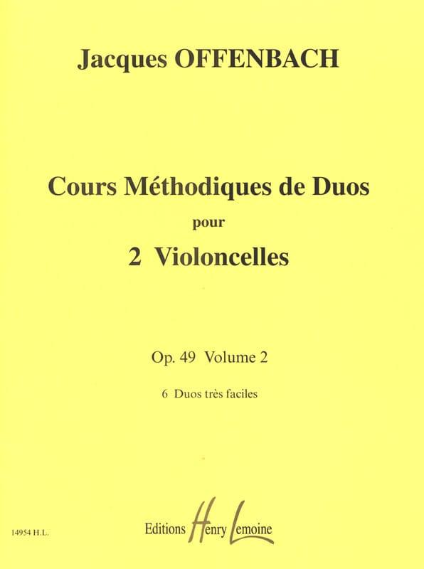 Cours Duos Violoncelles, op. 49 Liv. 2 - OFFENBACH - laflutedepan.com