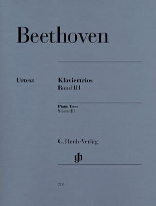 Trios avec piano, volume 3 BEETHOVEN Partition Trios - laflutedepan