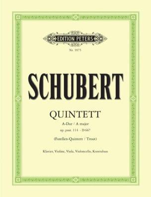 SCHUBERT - Quintett Forellen A-Dur op. post. 114 DV 667 - Stimmen - Partition - di-arezzo.co.uk
