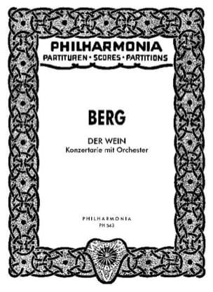 Alban Berg - Der Wein - Partitur - Partition - di-arezzo.fr