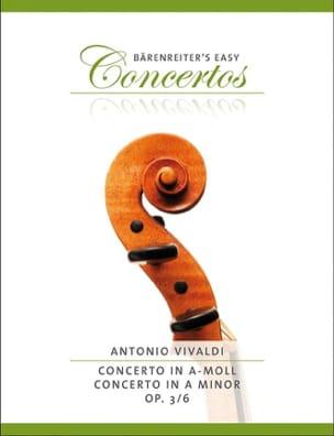 Concerto en la Mineur Op.3 N° 6 VIVALDI Partition laflutedepan