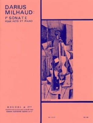 Sonate n° 1 - Alto - MILHAUD - Partition - Alto - laflutedepan.com