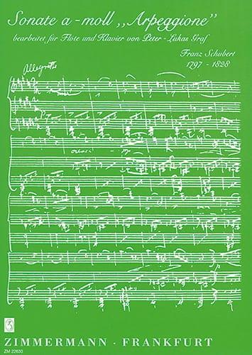 Sonate A-Moll Arpeggione - SCHUBERT - Partition - laflutedepan.com