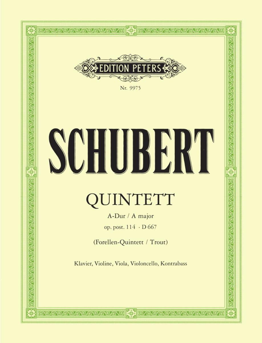 Quintett Forellen A-Dur op. post. 114 DV 667 -Stimmen - laflutedepan.com