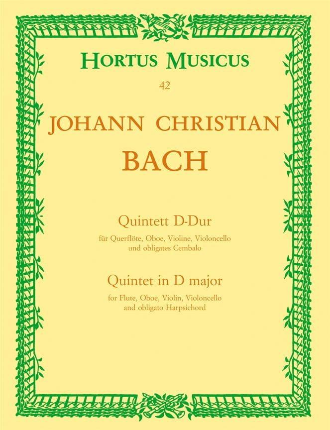 Quintett D-Dur -Flöte Oboe Violine Violoncello Cembalo - laflutedepan.com