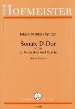 Sonate en Ré Majeur T 38 - Johann Matthias Sperger - laflutedepan.com