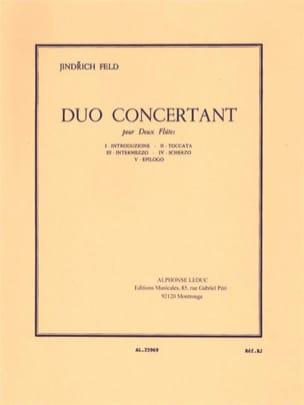 Duo concertant Jindrich Feld Partition laflutedepan