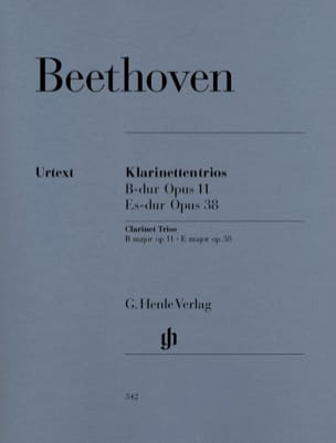 BEETHOVEN - Trios with Clarinet in Bb Maj. op. 11 and Eb Shift. op. 38 - Partition - di-arezzo.co.uk