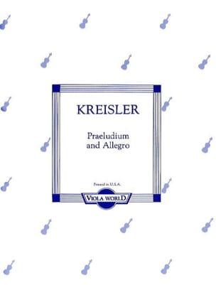 Präludium und Allegro - Viola KREISLER Partition Alto - laflutedepan