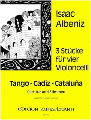 3 Pièces Pour 4 Violoncelles ALBENIZ Partition laflutedepan