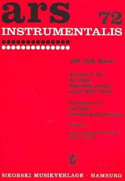 Konzert C-Dur - Oboe Klavier BACH Partition Hautbois - laflutedepan