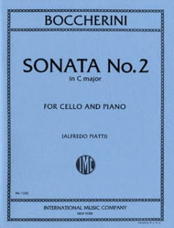 Sonata n° 2 in C major - Cello - BOCCHERINI - laflutedepan.com