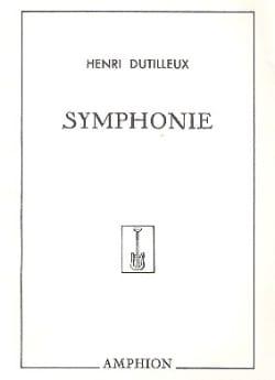 Symphonie n° 1 DUTILLEUX Partition Grand format - laflutedepan