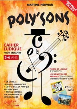 Poly'Sons Martine Herviou Partition Eveil musical - laflutedepan