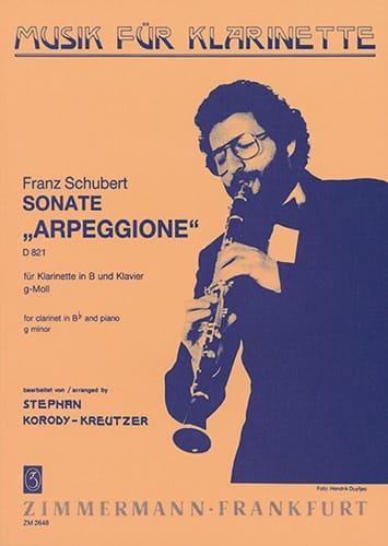 Sonate Arpeggione g-moll D. 821 - Klarinette Klavier - laflutedepan.com
