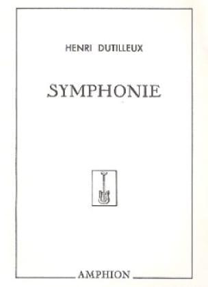 Symphonie n° 1 - DUTILLEUX - Partition - laflutedepan.com