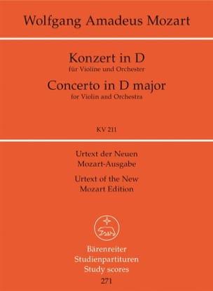 Violinkonzert D-Dur KV 211 - Partitur - MOZART - laflutedepan.com