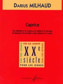 Caprice MILHAUD Partition Clarinette - laflutedepan