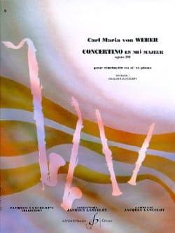 Concertino en Mib Op. 26 Carl Maria von Weber Partition laflutedepan