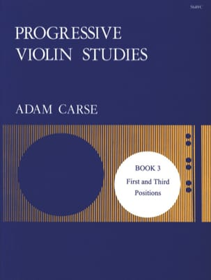 Progressive violin studies - Book 3 Adam Carse Partition laflutedepan