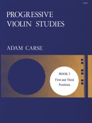Progressive violin studies - Book 3 - Adam Carse - laflutedepan.com