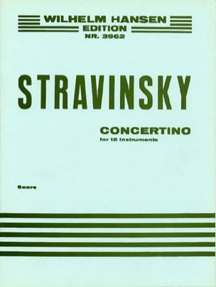 Concertino 1952 For 12 Instruments STRAVINSKY Partition laflutedepan