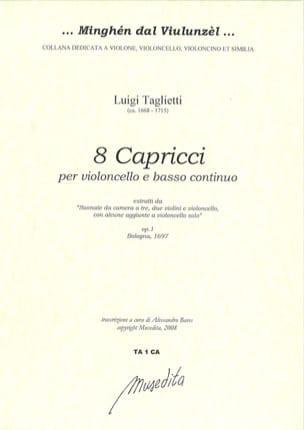 8 Capricci Luigi Taglietti Partition Violoncelle - laflutedepan
