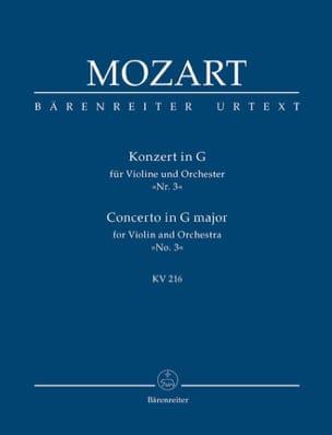 Violin-Konzert G-Dur KV 216 - Partitur MOZART Partition laflutedepan