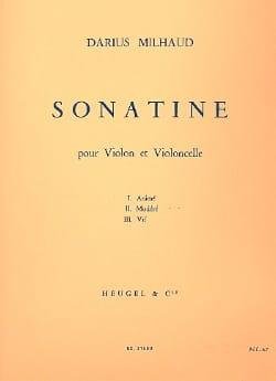 Sonatine MILHAUD Partition 0 - laflutedepan