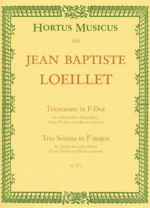 Triosonate F-Dur op. 2 n° 2 - Altblockflöte Flöte, Oboe Violine u. Bc laflutedepan