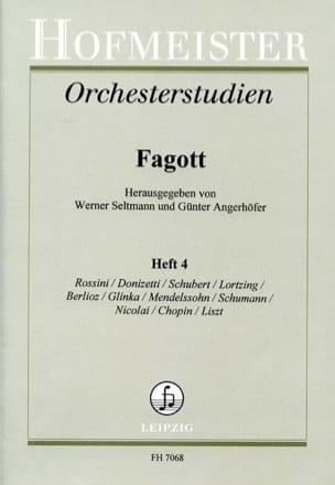 Orchesterstudien - Fagott - Heft 4 laflutedepan