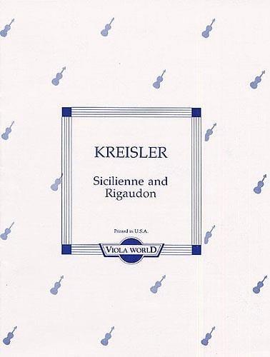 Sicilienne und Rigaudon - Viola - KREISLER - laflutedepan.com