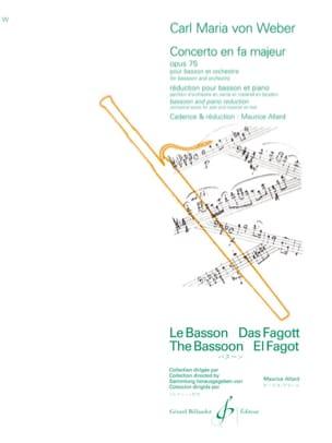 Concerto en Fa Majeur Op. 75 Carl Maria von Weber laflutedepan