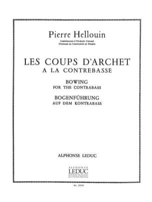 Coups d'archet à la contrebasse Pierre Hellouin Partition laflutedepan