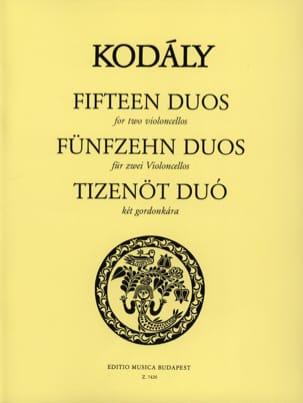 15 Duos - 2 Violoncelles KODALY Partition Violoncelle - laflutedepan