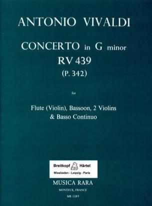 Concerto in G minor RV 439 P 342 -Flute bassoon 2 violins Bc laflutedepan