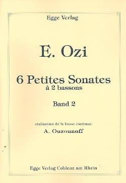 6 Petites Sonates à 2 Bassons Volume 2 Etienne Ozi laflutedepan