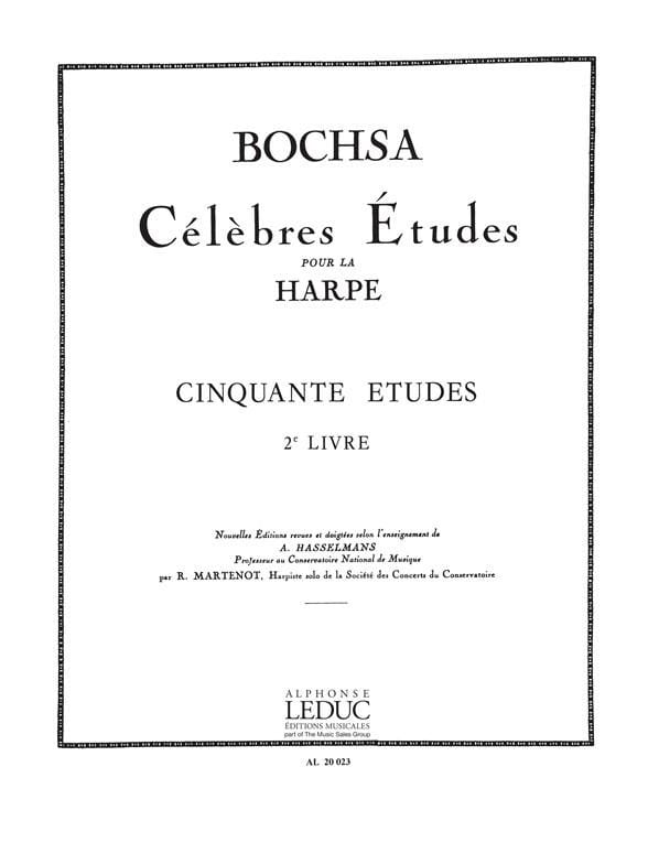 50 Etudes op. 34 - Livre 2 - Charles Bochsa - laflutedepan.com