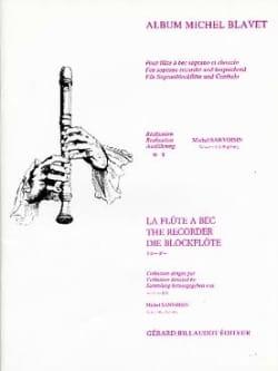 Album Michel Blavet Michel Blavet Partition Flûte à bec - laflutedepan