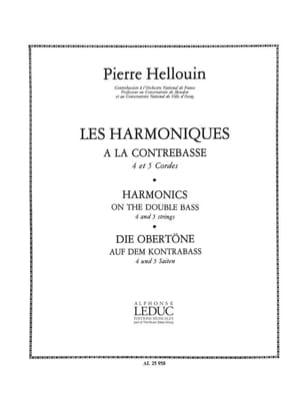 Harmoniques à la contrebasse Pierre Hellouin Partition laflutedepan