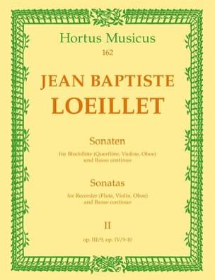 de Gant Jean Baptiste Loeillet - Sonaten - Heft 2 - Blockflöte Flöte, Violine, Oboe u. Bc - Partition - di-arezzo.co.uk