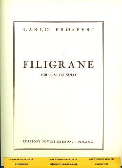 Filigrane - Flauto solo Carlo Prosperi Partition laflutedepan