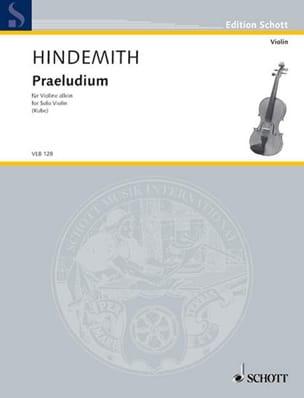 Praeludiul HINDEMITH Partition Violon - laflutedepan