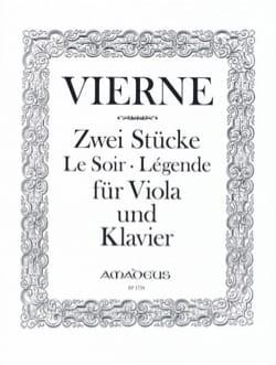 2 Pièces, op. 5 - Alto et piano VIERNE Partition Alto - laflutedepan