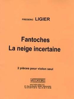 Fantoche - La neige incertaine Frédéric Ligier Partition laflutedepan