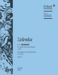 Miserere - Conducteur ZELENKA Partition Grand format - laflutedepan