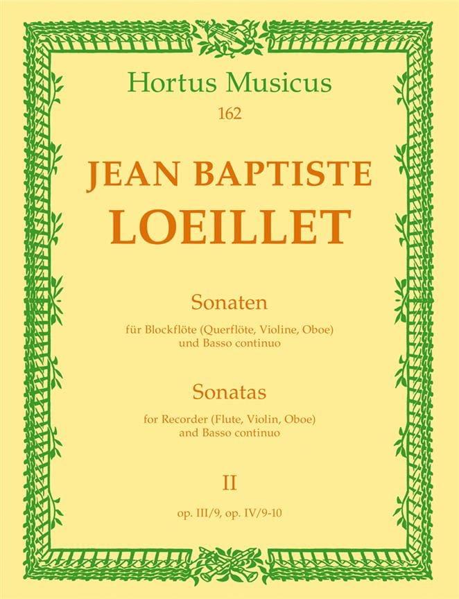 Sonaten - Heft 2 - Blockflöte Flöte, Violine, Oboe u. Bc - laflutedepan.com
