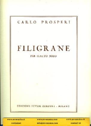 Filigrane - Flauto solo - Carlo Prosperi - laflutedepan.com