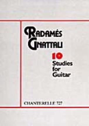 10 Etudes - Radamès Gnattali - Partition - Guitare - laflutedepan.com